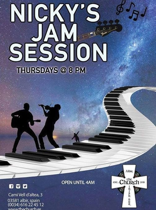 Jam Night – this Thursday from 8pm