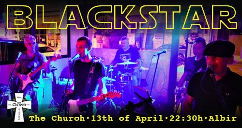 Blackstar this Saturday at 10pm