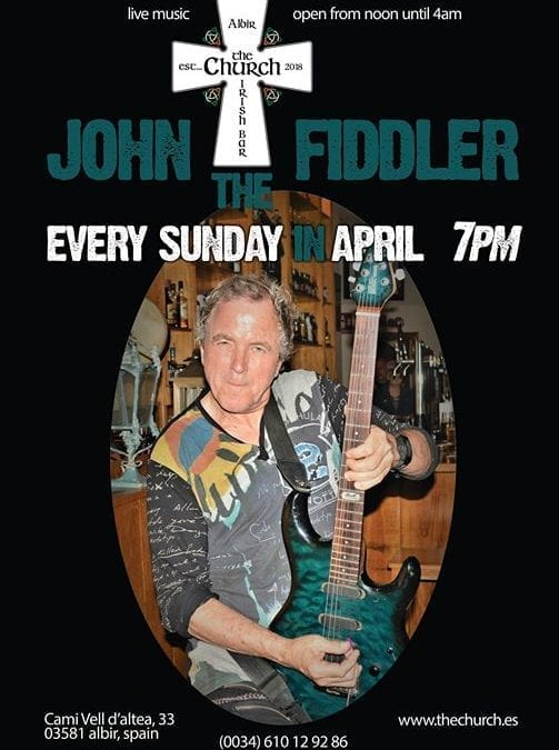 John the Fiddler – This Sunday 7pm