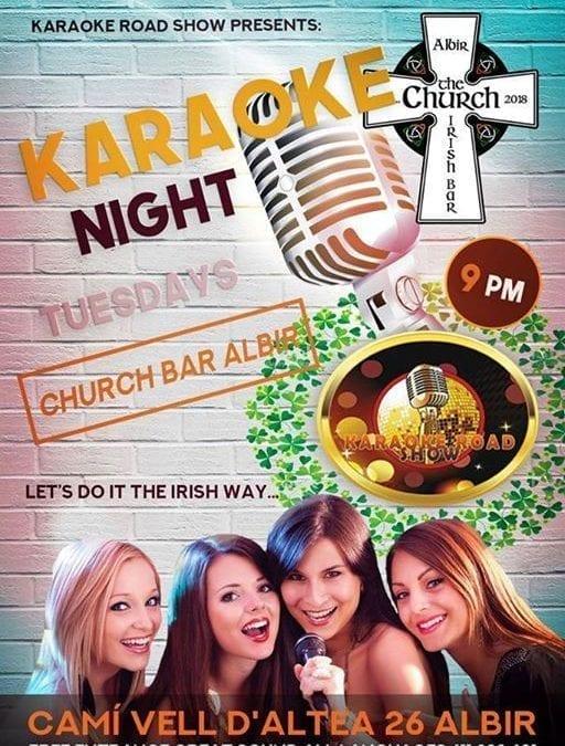 Karaoke night 9pm this Tuesday