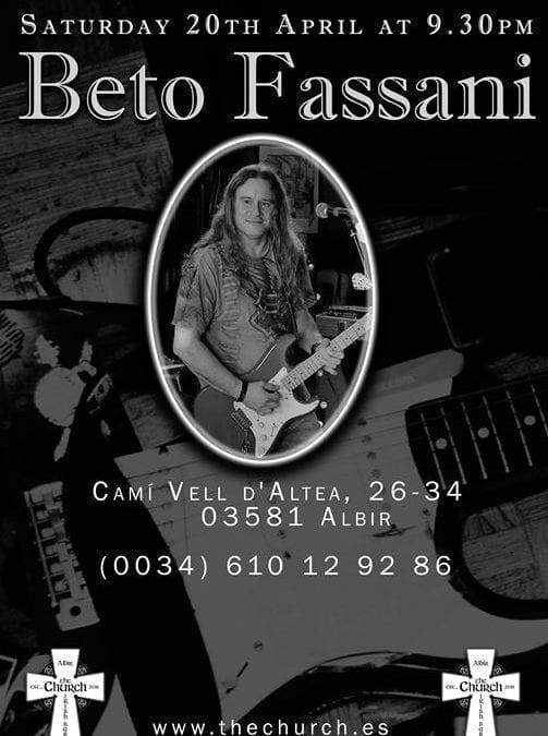 Beto Bob Fassani- Saturday at 9.30pm