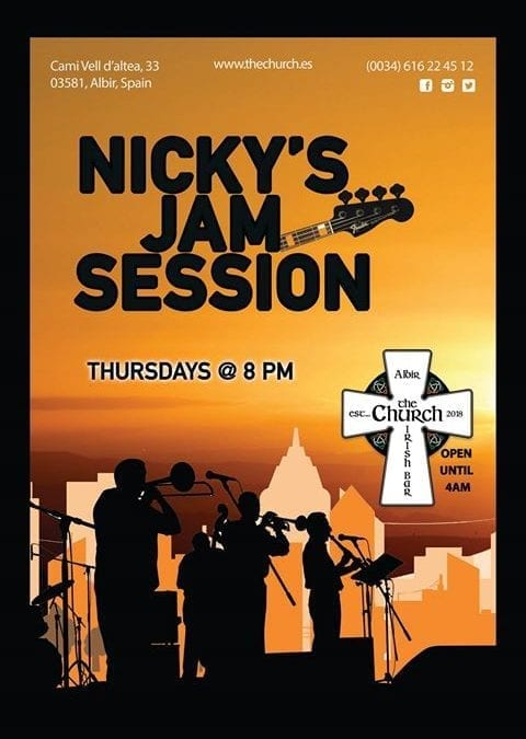 Jam Session- Thursday at 8pm