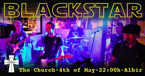 Blackstar- Saturday 10pm