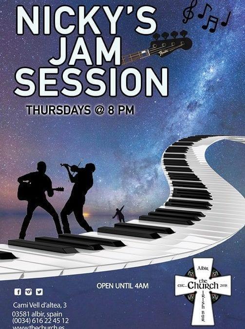 Thursday Jam Session from 8pm