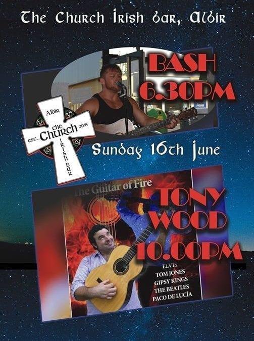 Bash followed by Tony Wood- LIVE this Sunday