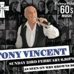 Tony Vincent 60's Singer – As seen on Mrs Brown Boys.